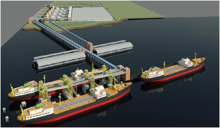 Resultado de imagem para imagem do porto graneleiro de porto mangue