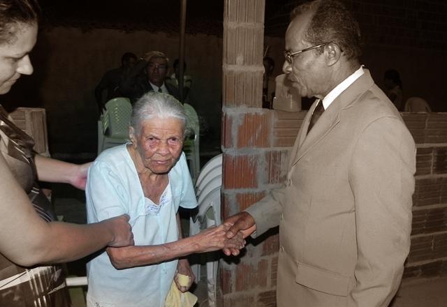 O Pb. Fco. Brazão em última visita a sua irmã Rita Brazão.